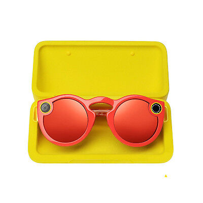 Spectacles Snap Camera Glasses For Snapchat - Coral, Free UK Delivery
