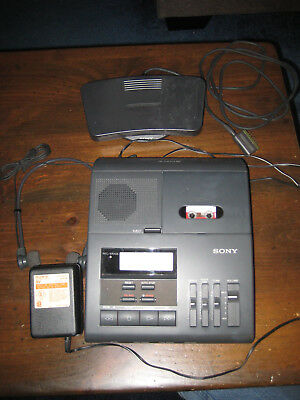 Sony BM-850 Microcassette Transcribing Dictator/Translator w/ Foot Pedal-USED