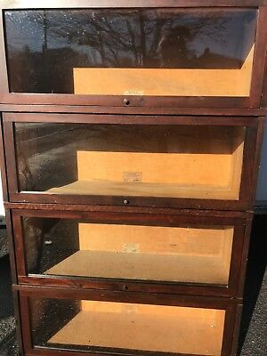 GLOBE WERNICKE Sectional Bookcase 4 Sections & Top Made Cincinnati Pattern 711