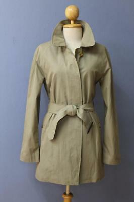 BEAUTIFUL Womens BURBERRY Single Breasted Short TRENCH Coat Mac Green 8/10 Small