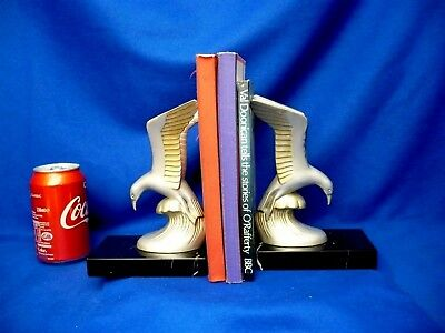 Two 1920 Art Deco Seagulls Book Ends Vintage Collectible Rare