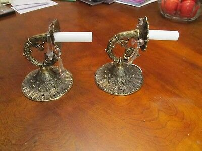2 solid brass ANTIQUE SCONCES COLLECTIBLE SCONCES EXC CONDITION HOME & GARDEN