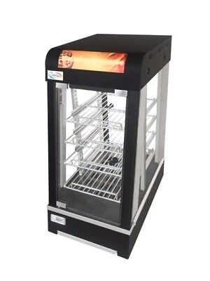 New Black Smart Warming Showcase Food Warmer Curved Glass