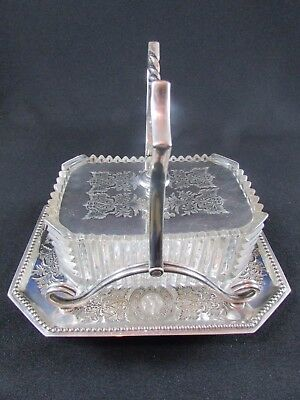 Silver Plated & Glass Butter Dish c.1888