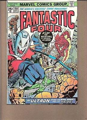 Fantastic Four #150 1974 -Ultron 'Crystal & Quicksilver Wed'  Conway/Buckler.vg+