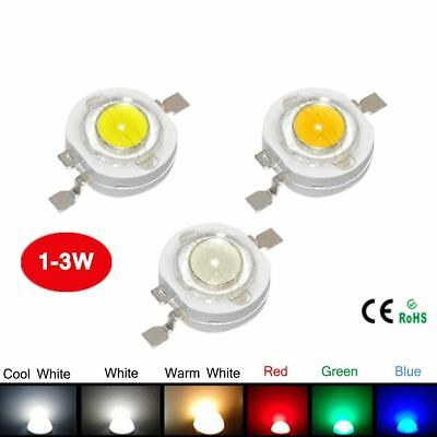 10Pcs 1W 3W High Power LED Bulb White/Warm White/Cold White/Red/Green/Blue Light