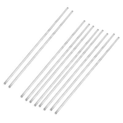 10Pcs 3mm Dia 200mm Length Stainless Steel Round Rod Shaft for RC Toy Car