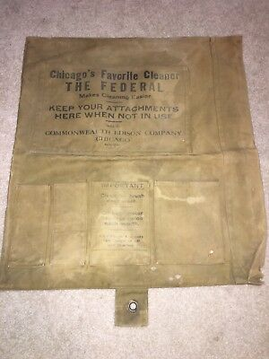 Vintage Canvas Commonwealth Edison Company Tool Bag The Federal Cleaner
