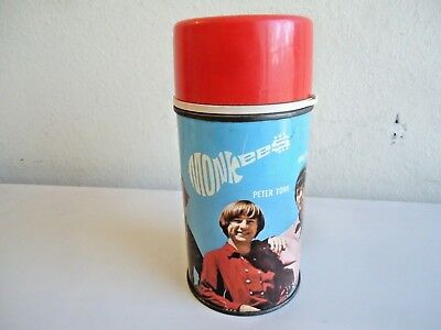 Vintage 1967 Monkees Thermos For Lunch Box . Original Monkees Thermos