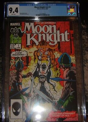 Moon Knight #1 (Jun 1985, Marvel) CGC 9.4 WHITE Pages - Fist of Khonshu