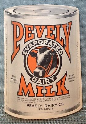 Pevely Dairy Evaporated Milk Adv. Paper Card, Dbl Sided. No. 40.
