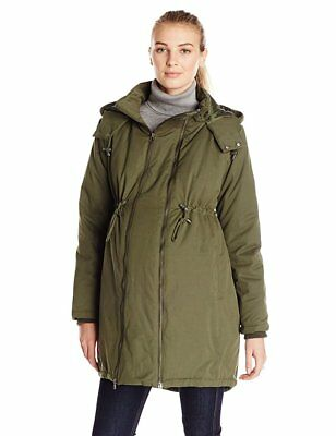 New JoJo Maman Bebe Maternity Padded Parka Coat Mamacoat Panel S US 2/4 ;UK 6/8