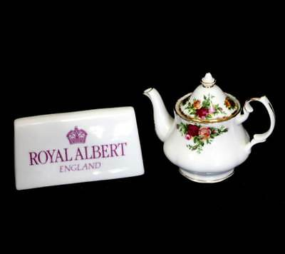 Vintage Royal Albert Old Country Roses miniature teapot in beautiful condition