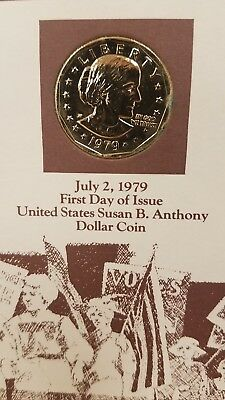 4-2-1979 First Day Issue United States Susan B. Anthony Dollar Coin