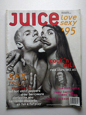 JUICE Magazine #29 July 1995 Red Hot Chili Peppers, Sex Issue