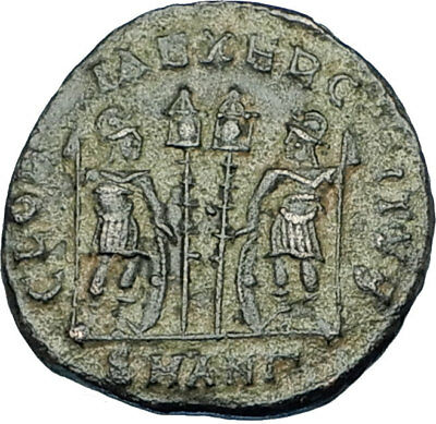 CONSTANTINE I the GREAT 330AD Authentic Ancient Roman Coin w SOLDIERS i65895