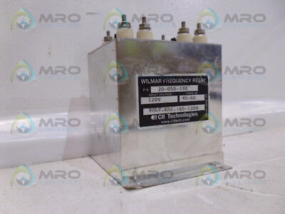 Cii Technologies 20-050-19X Wilmer Frequency Relay *used*