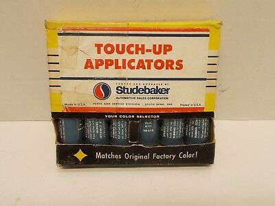 Vintage Box of 6 Paint Touch-Up Applicators for STUDEBAKER Automobiles