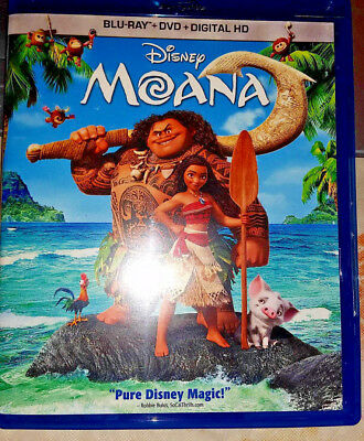 Disney Pixar's MOANA + THE LITTLE MERMAID Blu-rays 2 Animated Family Movies