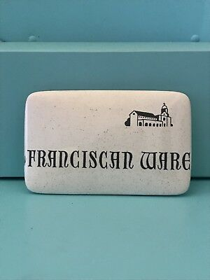 Rare Hard to Find Franciscan Ware Advertising Sign Scarce