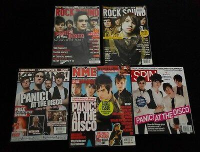 Panic! At The Disco, 5x magazines with cover articles