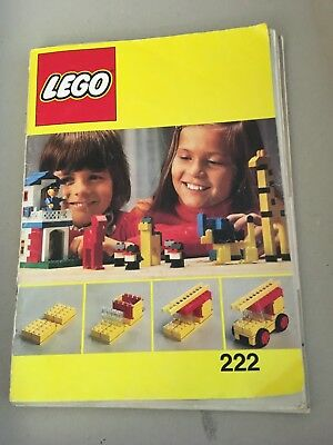 Lego book #222 80 pages of construction models, circa 1980's