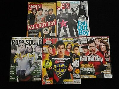 Fall Out Boy, 5x magazines with cover articles