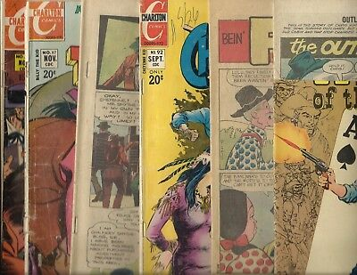 Lot of 6 Charlton Western Comics - Billy the Kid - Outlaws of the West low grade