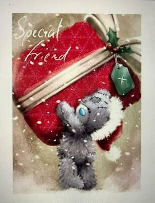 Special Friends Me to You Bear With Gift Luxury Christmas Greeting Card New