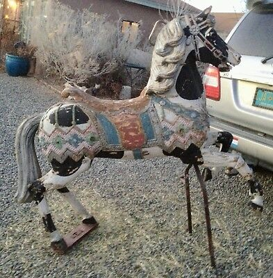 ANTIQUE GERMAN CAROUSEL HORSE Free Shipping