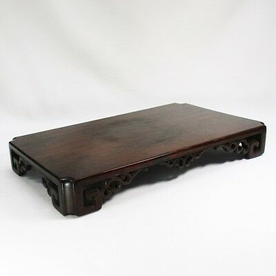 D587: High-quality Japanese KARAKI wooden decorative stand of classy style