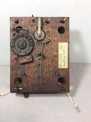 Antique Shelf Clock Wooden Works Movement  by Boardman & Wells Parts / Repair