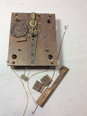 Antique American Wooden Works Shelf Clock Movement Parts/ Repair