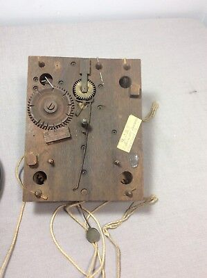 Antique American Wooden Works Movement by Chadncey Boardman