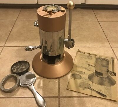 Vintage 1960's Charles Of The Ritz Cosmetic Powder Press Makeup Steampunk Cool