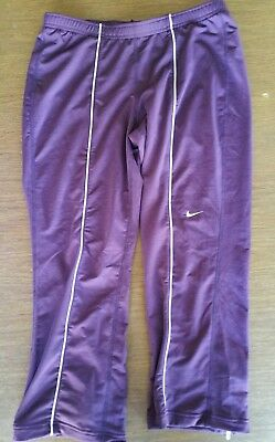 NIKE Dri-Fit Black Running Athletic Tights Pants Women's Sz M Ankle Zippers NWT