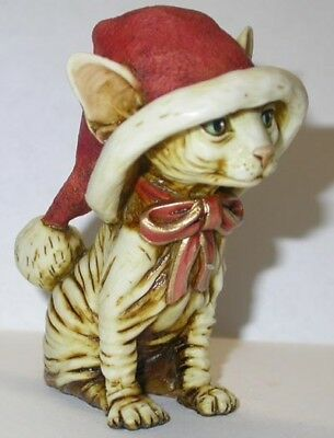 Harmony Kingdom Artist Neil Eyre Designs Christmas Santa Sphynx cat kitten LE 25