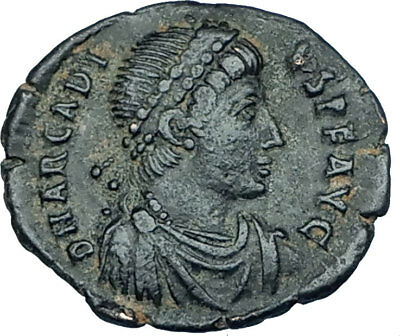 ARCADIUS crowned by Victory 395AD Antioch Authentic Ancient Roman Coin i65932