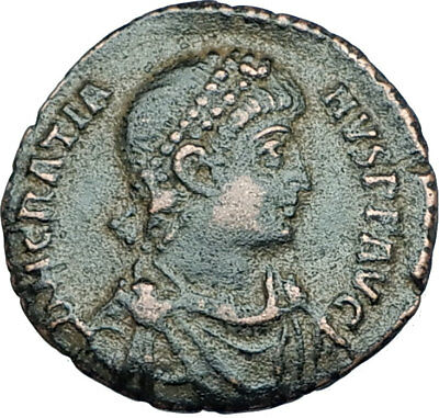 GRATIAN Original 378AD Antioch Authentic Ancient Roman Coin Rome as Roma i65941
