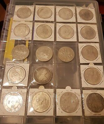 group of nineteen cast chinese crown size coins..white metal