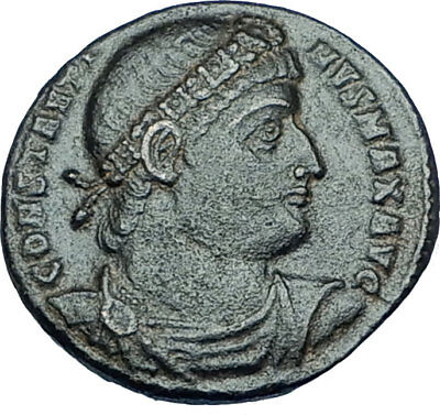 CONSTANTINE I the GREAT 330AD Authentic Ancient Roman Coin w SOLDIERS i65956