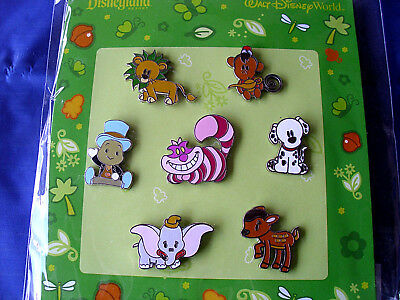 Disney * CUTE ANIMALS * New in Package Retired 7 Pin Booster Set