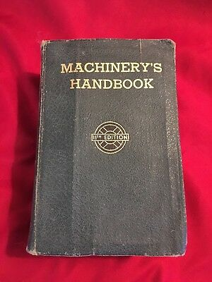 Machinery's Handbook 1941 11th Edition for Machine Shop and Drafting Room