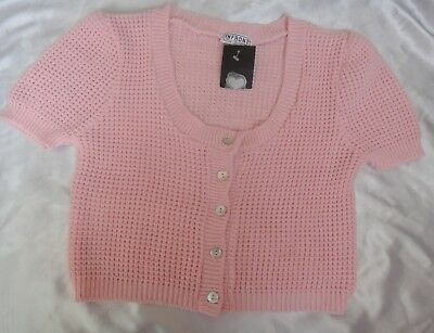 New WOMEN'S MADE IN UK CARDIGAN JACKET SIZE M / LARGE WITH TAG