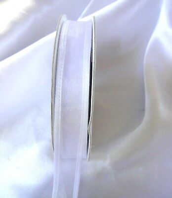 NEW ORGANZA RIBBONS  WHOLESALE WHITE 15MM new