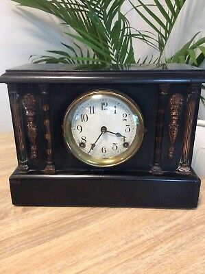 Sessions Four Column Mantle Clock  Working Order