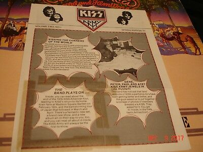 KISS - Kiss Army Newsletter Vol Two #1  Spring 1977 Edition   Get Your Love Gun!
