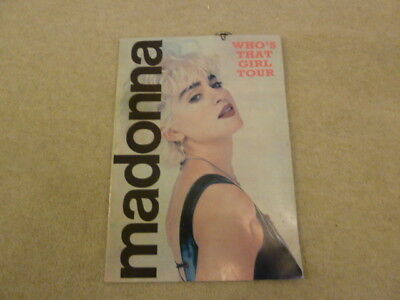 Madonna Who's that girl tour book/badge