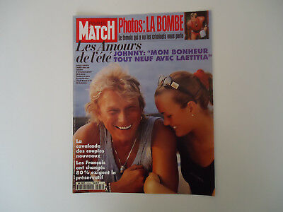 Cover and article on Johnny Hallyday / Paris Match, August 31, 1995