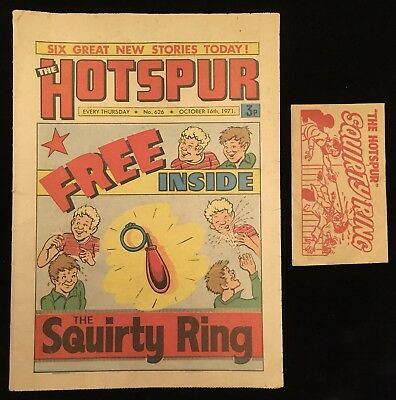 The Hotspur #626 16th October 1971 - Complete With Free Gift Squirty Ring